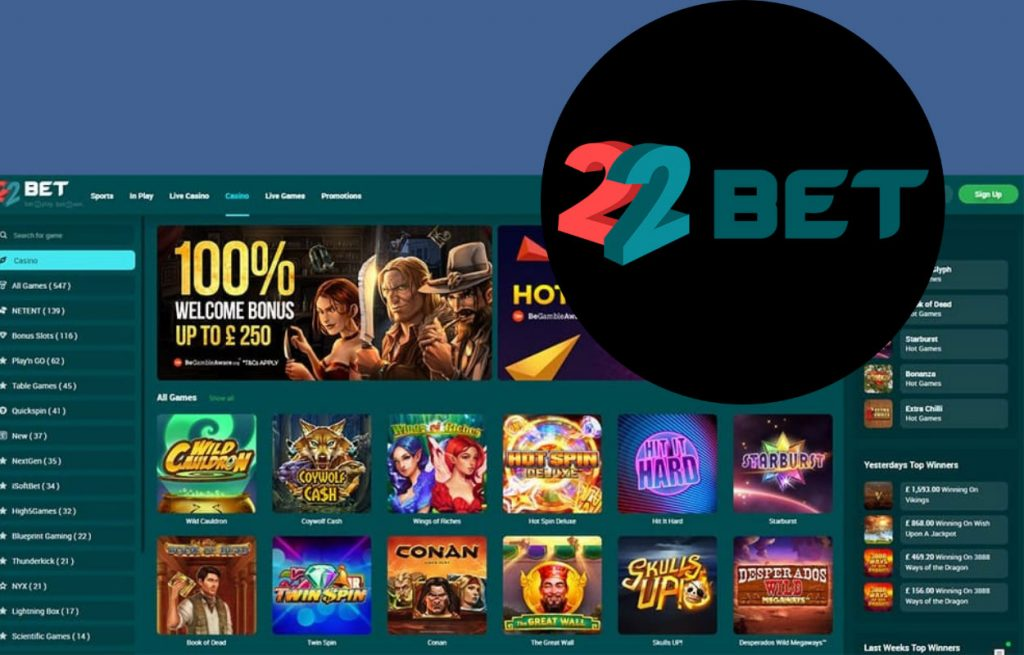 22Bet Casino should be at the top of your list