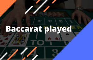 Casino card game Baccarat